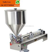 Pneumatic piston filling machine for liquid/cream soy sauce and shampoo