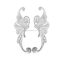 Jermya 925 Sterling Silver Butterfly Diamond