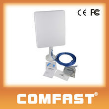 COMFAST CF-N300 300Mbps, Ralink RT3072 chipset, 2000mW,36dbi,10m/5m cable optional, Panel antenna USB wireless adapter outdoor