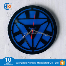 Round shape home decor acrylic 3d wall clock
