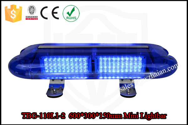 Magnetic Police Strobe Blue Mini Beacon Bar Lights/12v 0.25W LED Flashing Security Mini Lightbar TBG-110L1-2