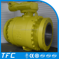trunnion mounted gear operated A216 WCB ball valve