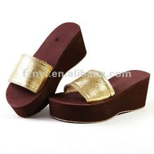 customized ladies high platform slipper