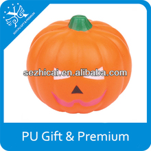 Halloween promotional gifts squeeze pumpkin stress ball toys logo items