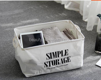 big size collapsible storage basket cotton printing