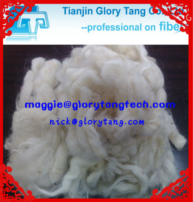 The best quality & price of scoured sheep wool /carpet wool fiber