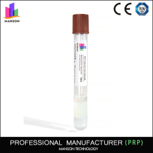 MANSON PRP company CE Hair growth10 ml disposable prp biotin blood plasma separation separating gel tube for hair loss treatment