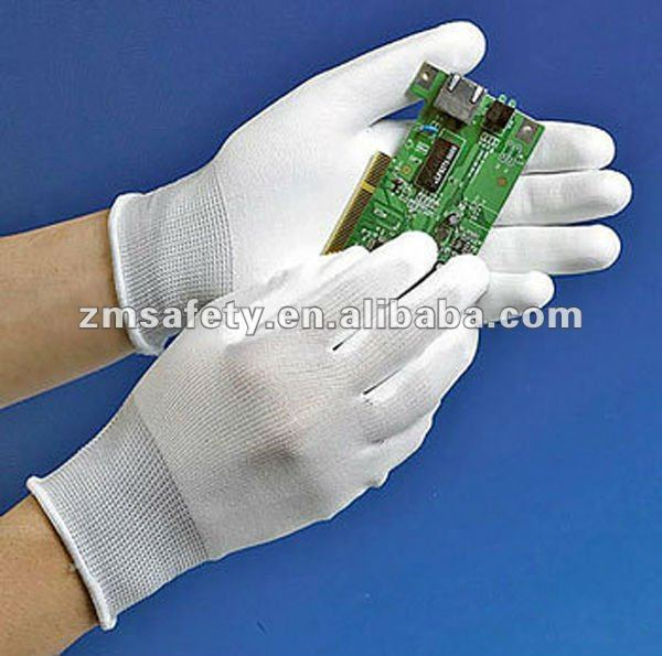 Nylon Knitted Palm Fit Antistatic Glove With Conductive Yarn ZMR170