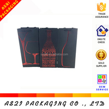 new 2015 high quality 250 g kraft paper wine bag for single bottle