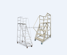Metal Two and Three Step Ladder with Wheel