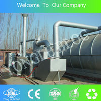 yonglebloc 20TPD two pyrolysis reactors with one coolong system waste PP plastic recycling machinery