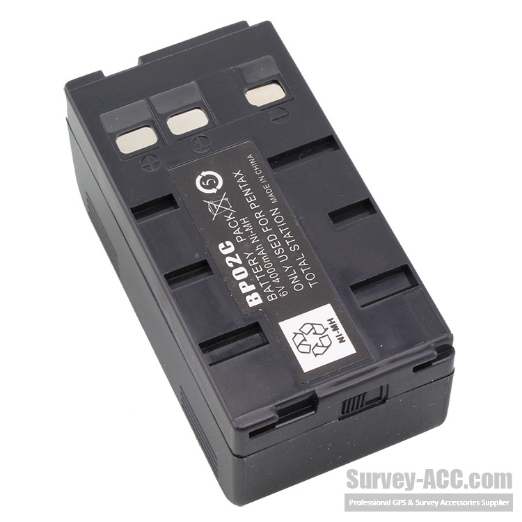 BP02C 6V rechargeable battery for Pentax total station R-100/200/300/300X/800/R-322NX/R-322NXM/R-325NXM
