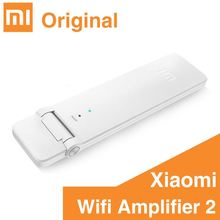 Original mi Mi WiFi Amplifier 2 Two Wireless Router Mini Wi-Fi Repeater Network Expander USB Power Extender Antenna Roteador