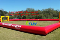 customized inflatable football court/inflatable bubble football pitch for sale /inflatable human bubble ball field
