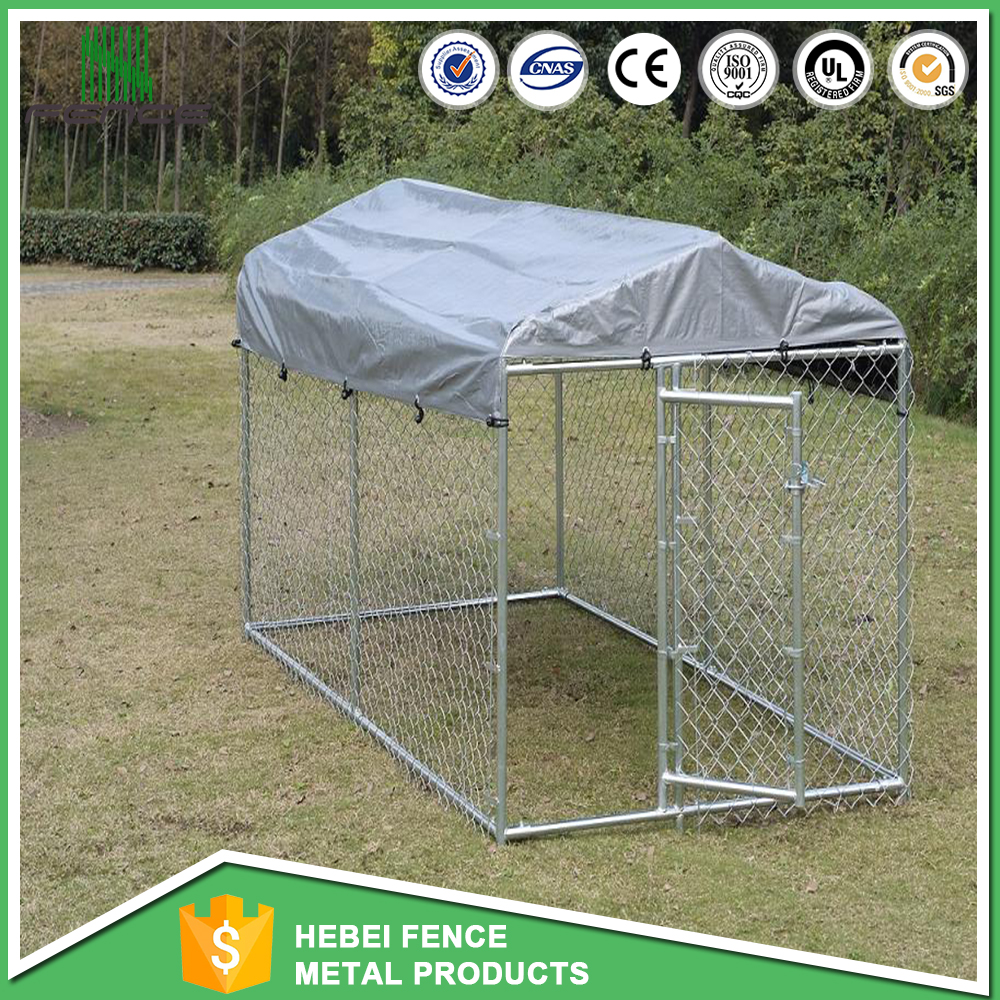 Wholesale outdoor chain link dog kennel lowes dog kennel with roof