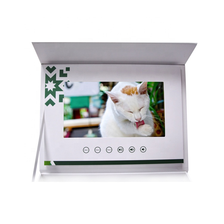 Promotional lcd screen video gift box 7 inch video brochure for business gift