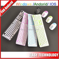 bluetooth touch mouse flexible keyboard 2.4G Wireless Keyboard and Mouse Combo with Round Keycap