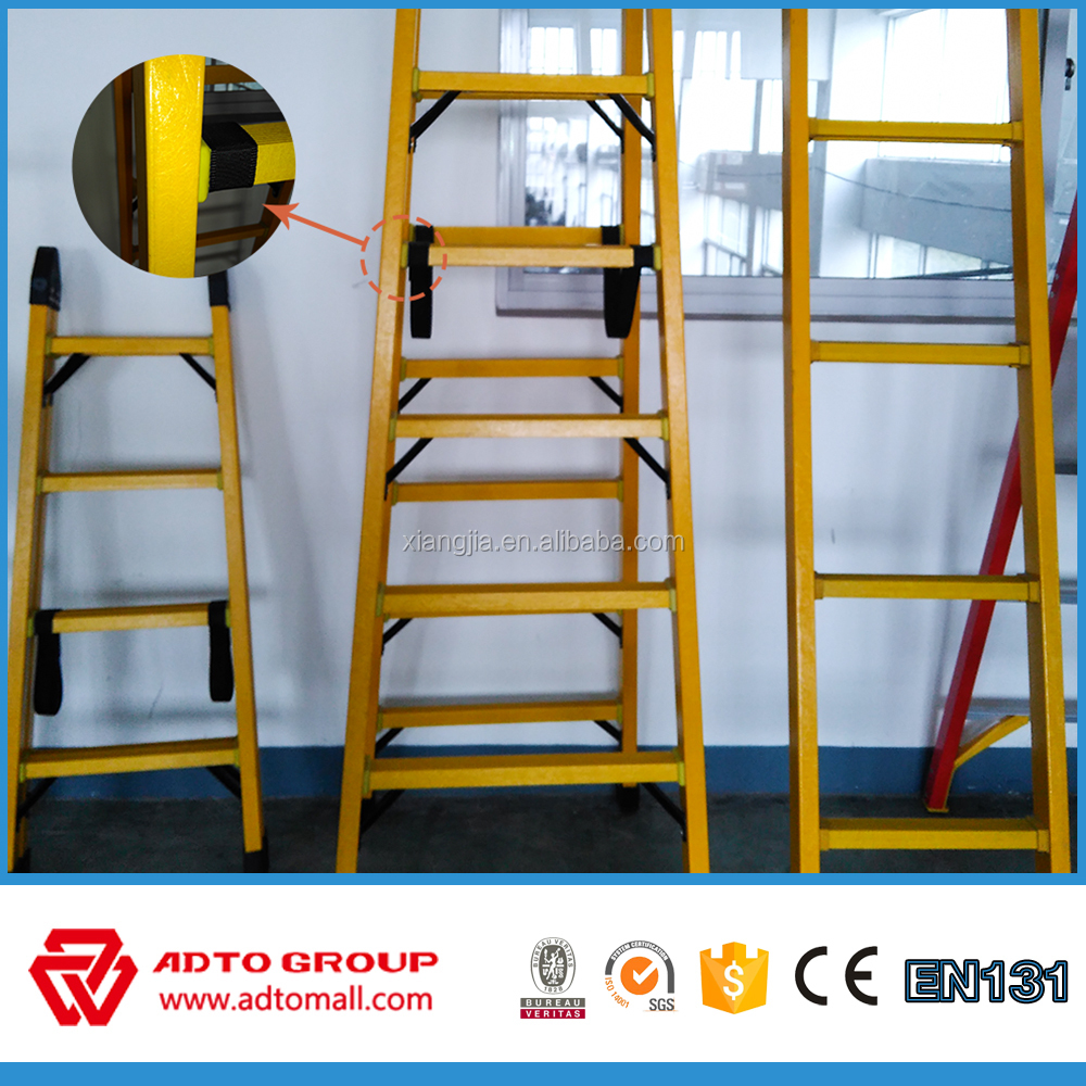 Folding fire escape ladder, aluminum fiberglass ladder,escalera de aluminio