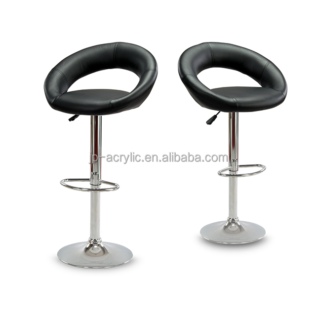 Leather Material Outlets Bar Chair Bar Stool Adjustable Bar Stool with Foot Lifter