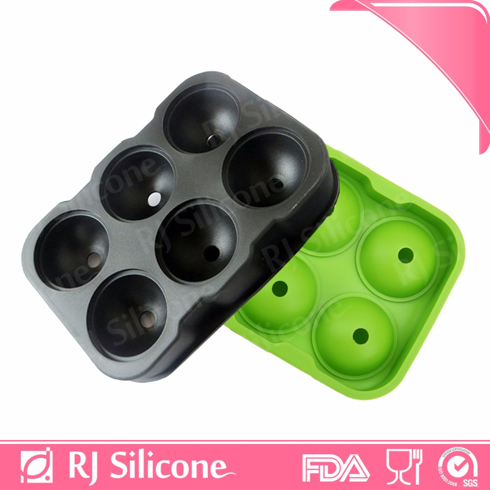 RJSILICONE circle silicone ice tray eco-friendly silicone ice mold ice ball sphere molds