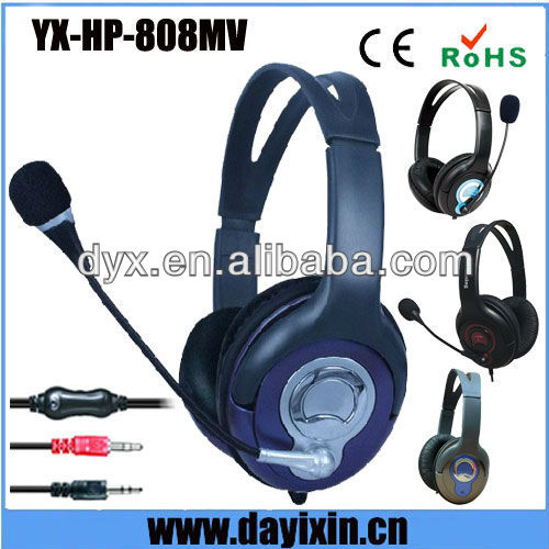Colorful 3.5mm hearing aid super bass gaming computer fancy design alibaba stereo headphone for computer