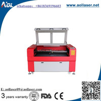 AOL 1390 80 watt co2 laser tube laser engraving machine for wood/plywood/acrylic