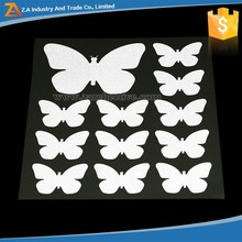 Wall Decoration Lovely Butterflies Designs ! Flashing Reflective PVC Adhesive Stickers/ Reflective Safety Window Warning Sticker
