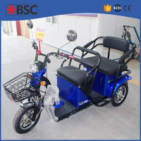 35 km/h Comfortable electric Cheap Adult Tricycle