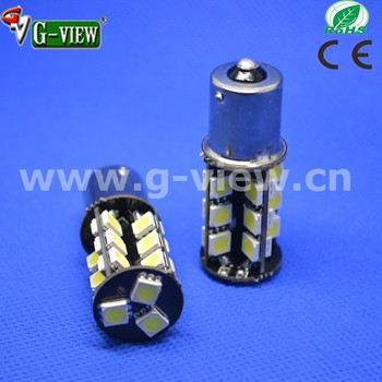 Best quality promotional warm white &amp cool 12v car led turn lamp 27smd 5050 ba15s canbus no error bulbs