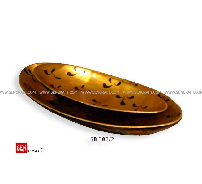 spun bamboo plate, lacquer plate, dishes plate