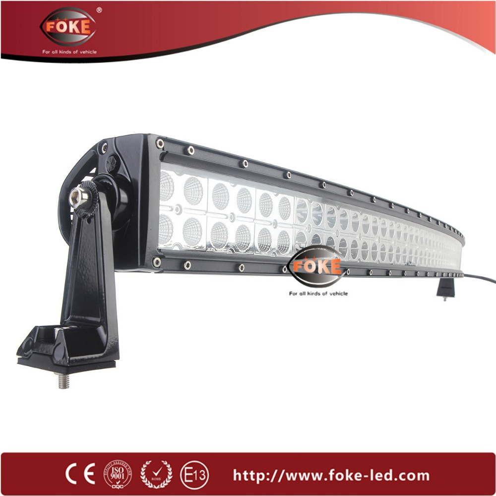 IP67 CE ROSH 240w 288w 300w dual row offroad 52 inch curved led light bar for trucks