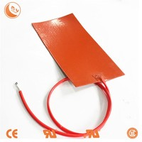 Factory direct sale silicone rubber heater silicone heater pad 12 volt battery heater