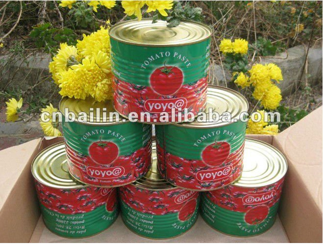 High lycopene 2200g canned tomato paste PH value:4.0~4.2