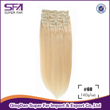 100% Brazilian Hair Clip-On Hair Extension Single Donor Virgin Hair