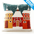 New Design Snow sight sublimation printing wholesale motivational cushion cover