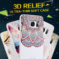 Newest made in china plastic tpu relief fancy shockproof soft mobile phone bumper back cover clear case for iPhone 5/5S
