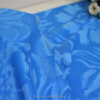 Plain color 100% polyester short plush flower pattern brushed velboa for sofa and garment fabric