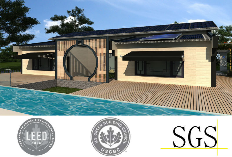 modern Eco Friendly House with solar roof system