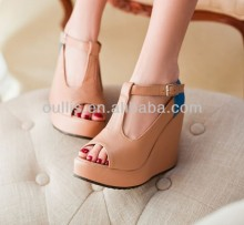 ladies sandals 2014 women nice wedges trendy shoes CP6550