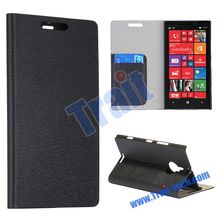 Hot Sale Annual Ring Pattern Waterproof Flip Stand Wallet Style PC Back Cover PU Leather Case for NOKIA Lumia 1520