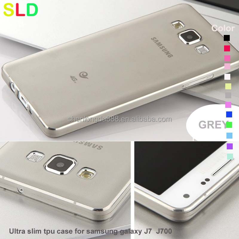 super ultra thin mobile phone back cover for samsung galaxy J7 J700