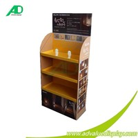 Electronic led light for Japan supermarket brand advertising display cardboard display stand for pos