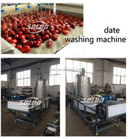 Date processing machine for washing / pitting / slicing