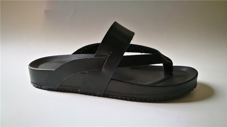 CX100NS08 handmade thick sole leather thong sandals
