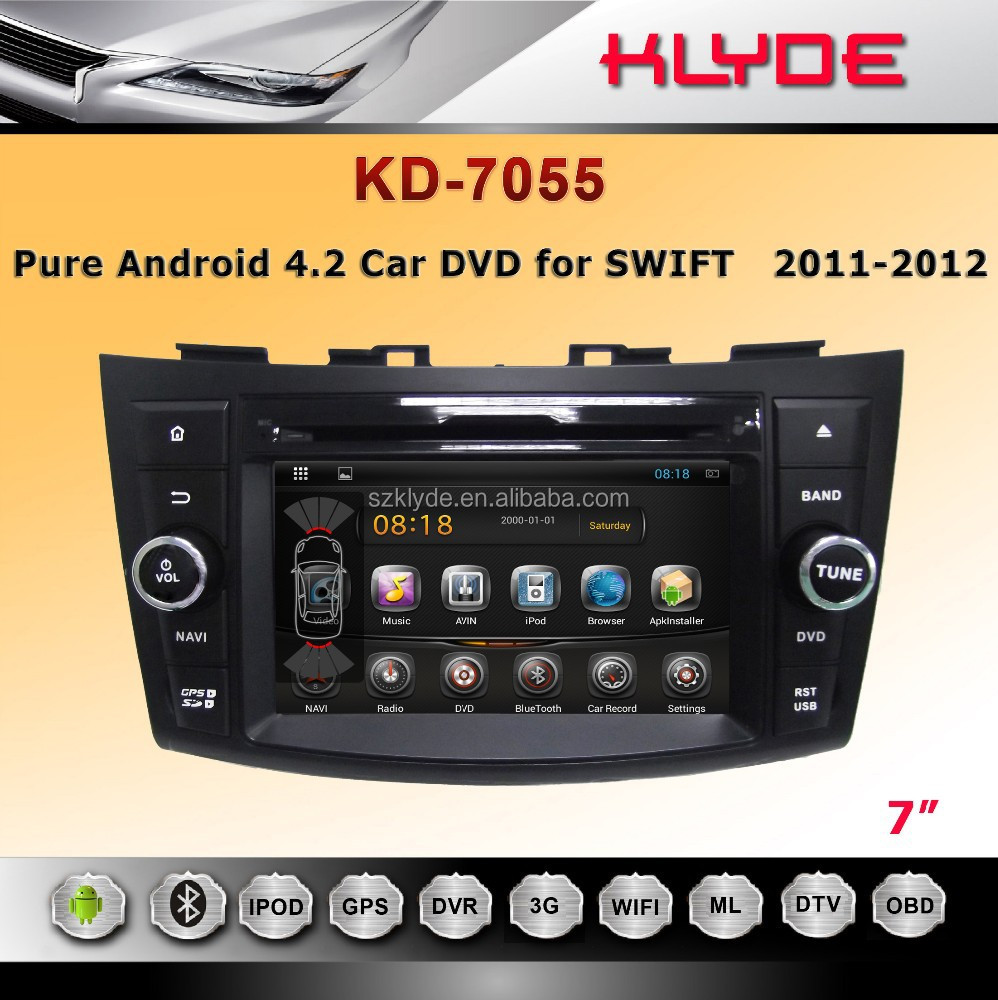 new UI for special double din car dvd for SWIFT all function