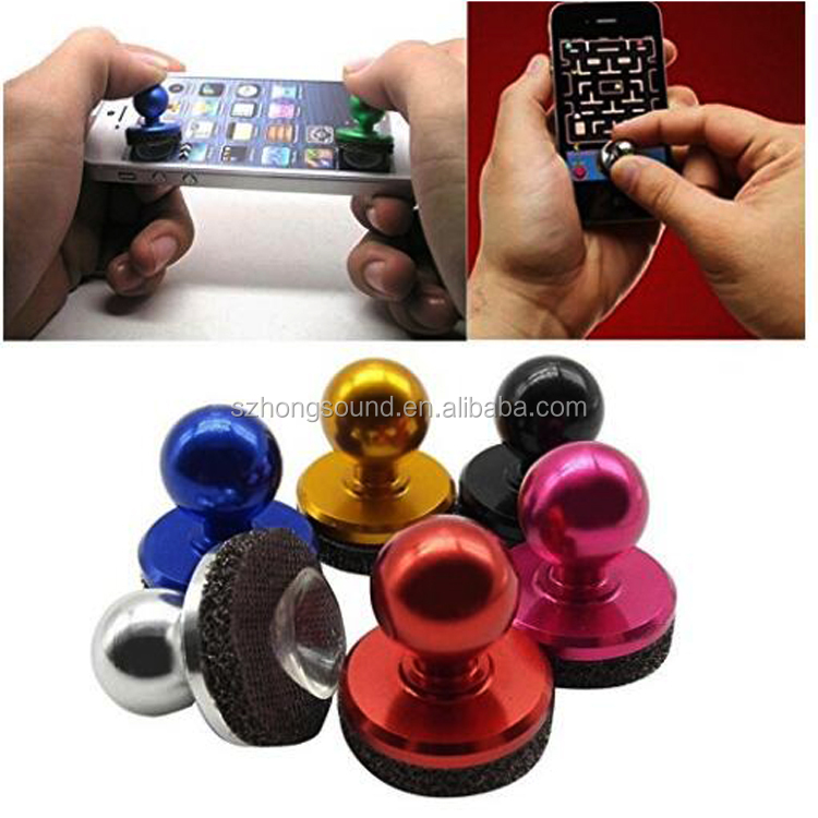 Metal smartphone Joystick IT screen touch mini Joypad for iPhone Android