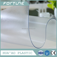 embossed pvc film transparent in rolls plastic for table cloth