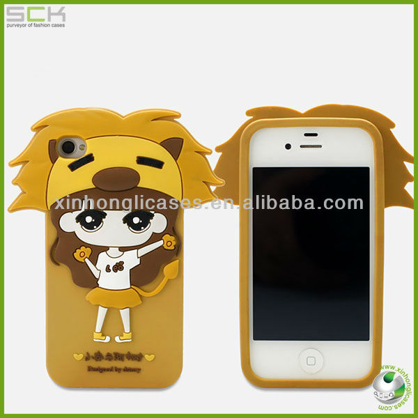 Silicone Cell Phone Case for iphone 4s