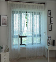 manufacturer cheap home decoration flocking organza curtain