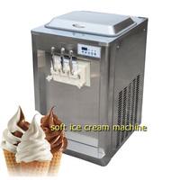 BQ323T Commercial Counter Top Digital Three Flavors Soft Ice Cream Machine
